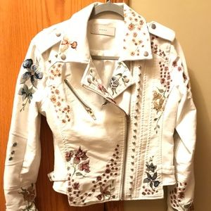 Jackets & Blazers - Floral Authentic Leather Jacket with lining